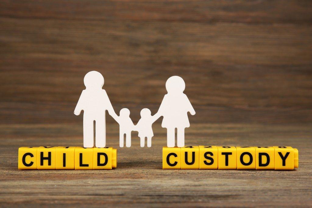 Child custody with cutout