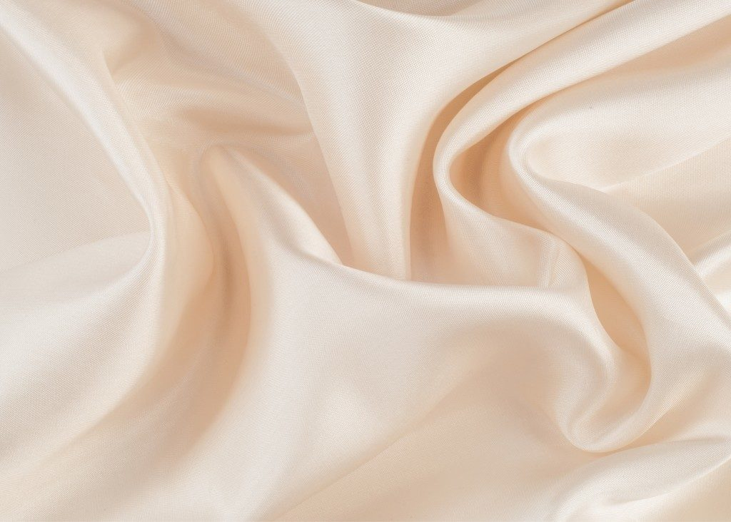 Silk texture cloth in cream color