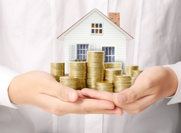 paying mortgage concept