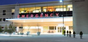 Emergency room entrance of hospital