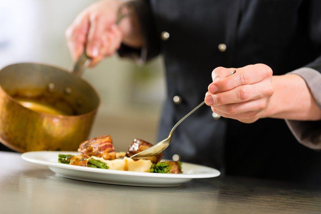 Food prep on a restaurant
