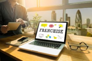 franchise design in a laptop screen