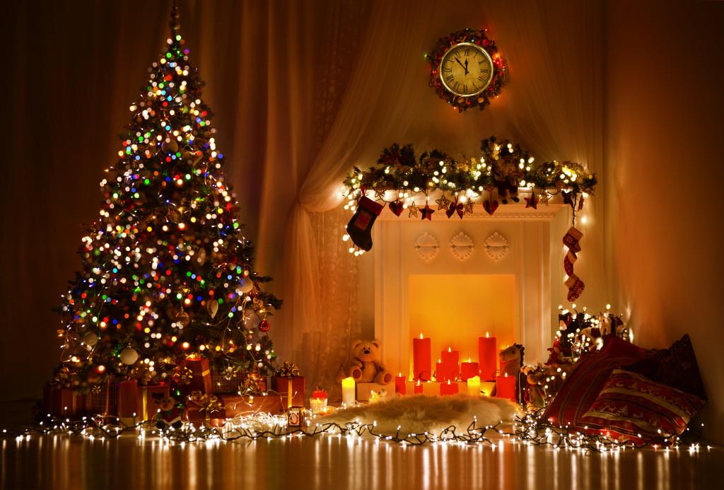 Home with christmas decor