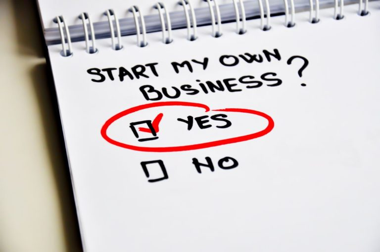"""note that reads """"start my own business?"""" with yes checked"""