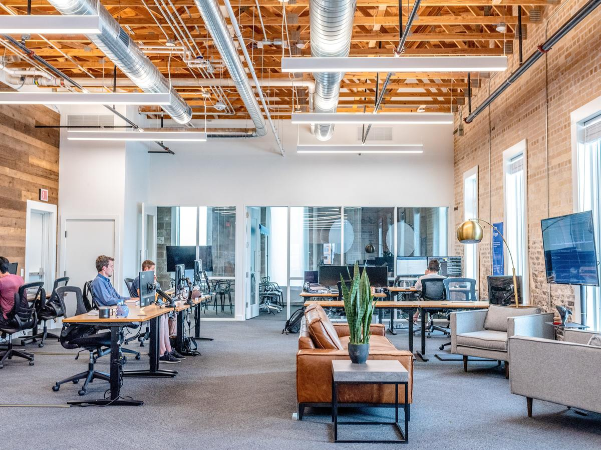 co working space filled with workers