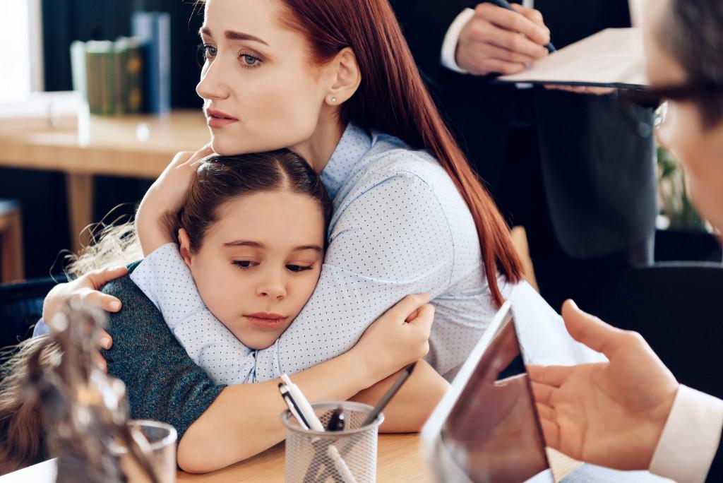 child in divorce proceeding